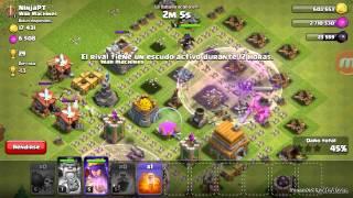 Ataque de 100 rompemuros , clash of clans #1