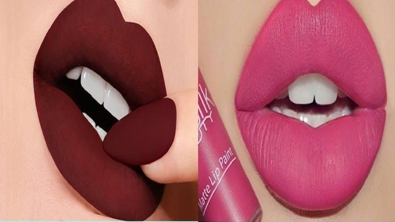 Amazing Lipstick Tutorial Compilation 2020 Beautiful Lip Art Design Ideas Youtube