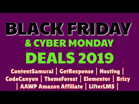 Best Black Friday Deals 2019 | Wordpress | Hosting | ContentSamurai | GetResponse | Elementor thumbnail