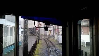 【前面展望】伊予鉄道 郊外電車 横河原線 高浜行き700系719 福音寺→大手町