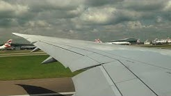 Boeing 787 take off from London Heathrow - Wing view