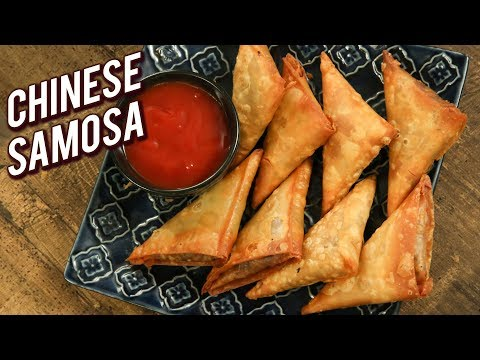 Chinese Samosa Recipe - How To Make Crispy Vegetable Samosa - Snack Recipe - Varun