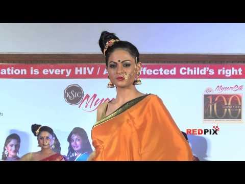 Mysore silk saree fashion show --  Casual  sarees -- Red Pix