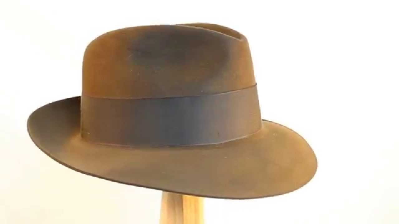 8b3563c843807 Stetson Temple Fur Felt Fedora in Mink Brown - YouTube