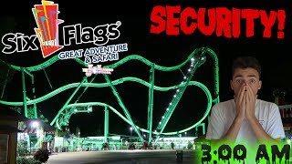 SNEAKING IN TO SIX FLAGS GREAT ADVENTURE AFTER CLOSE (3 AM CHALLENGE)