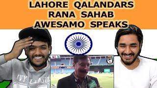 Indian reaction on LAHORE QALANDARS AUR RANA SAHAB | AWESAMO SPEAKS | Swaggy d