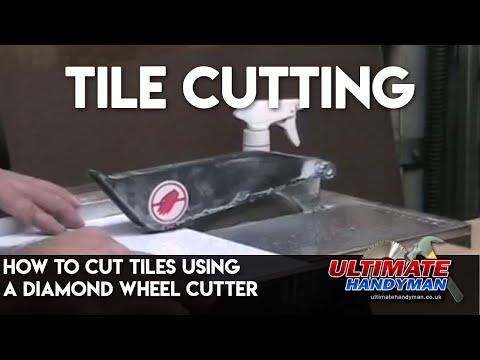 How to cut tiles using a diamond wheel cutter