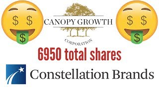 I bough another 1050 shares of Canopy growth stock.