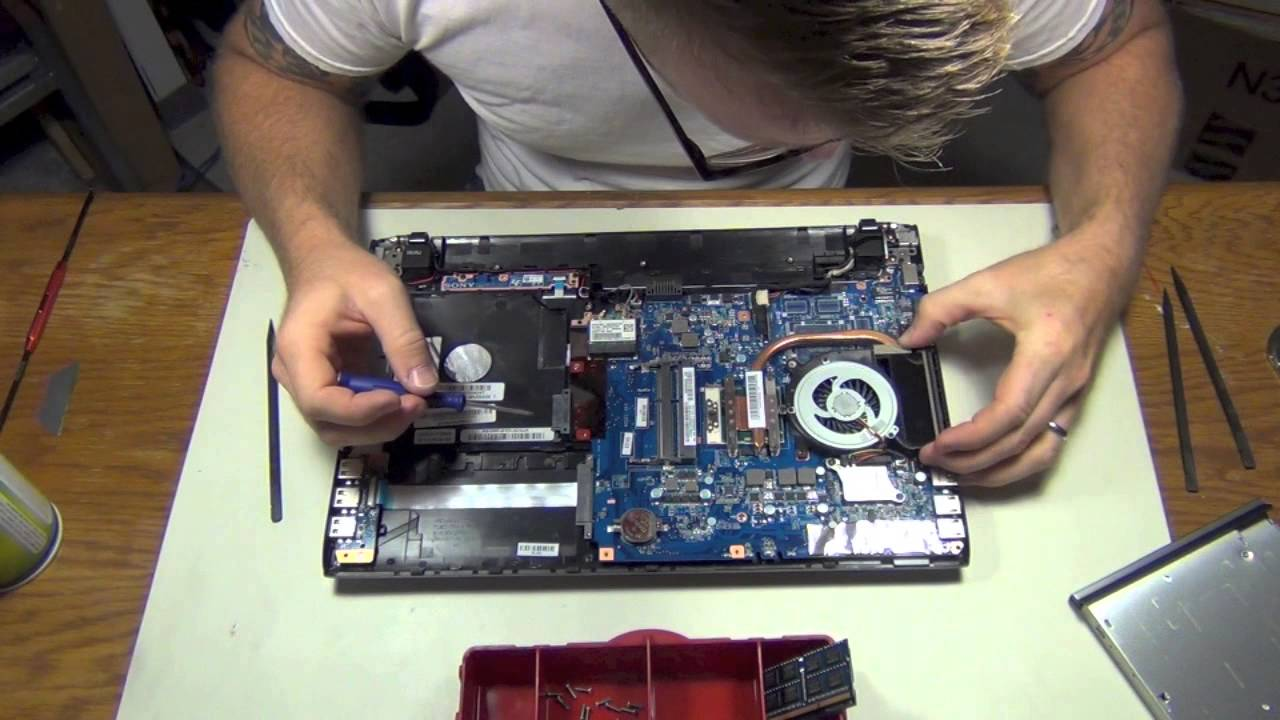 How To Sony Vaio Laptop Fan Cleaning Step By Step Youtube