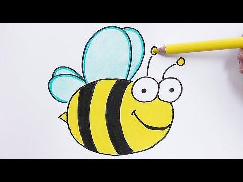 Worksheet. Dibujando y coloreando a la Abeja  Drawing and coloring Bee  YouTube