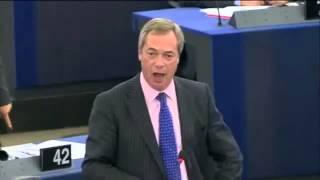 UKIP Nigel Farage launches into Guy Verhofstadt  during Syria debate - Sep 2013