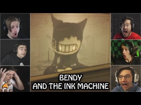 Gamers Reactions to the Ink Machine Monster (Jumpscare) | Bendy and The Ink Machine