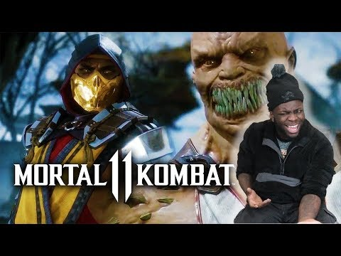 MORTAL KOMBAT  Gameplay Trailer + All Fatalities and Fatal Blows (Reaction)