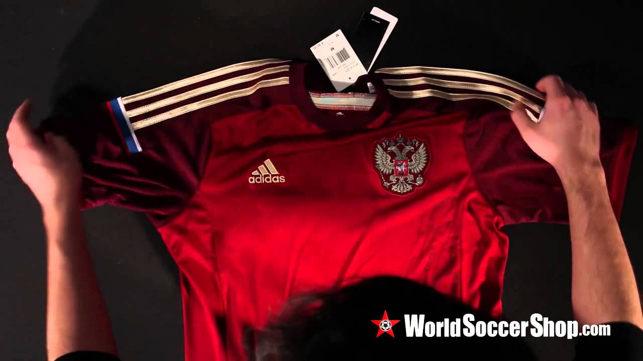 adidas Russia 2014 Home Soccer Jersey - Unboxing - YouTube 4f8fa9b78