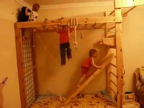 Спортивный комплекс с рукоходом. Шведские стенки Одесса. Магазин BABY ROOMиз YouTube · Длительность: 24 с