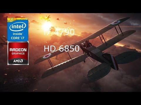 Battlefield 1 HD 6850 1 GB Benchmark I7 4790