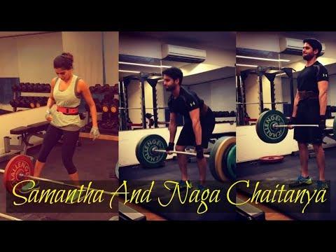 #Samantha & #Nagachaitanya Work Out Together   Actress Samantha   Actor Naga Chaitanya