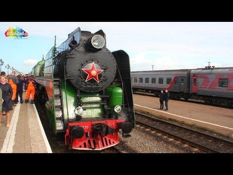 В Архангельске побывал исторический ретро-поезд