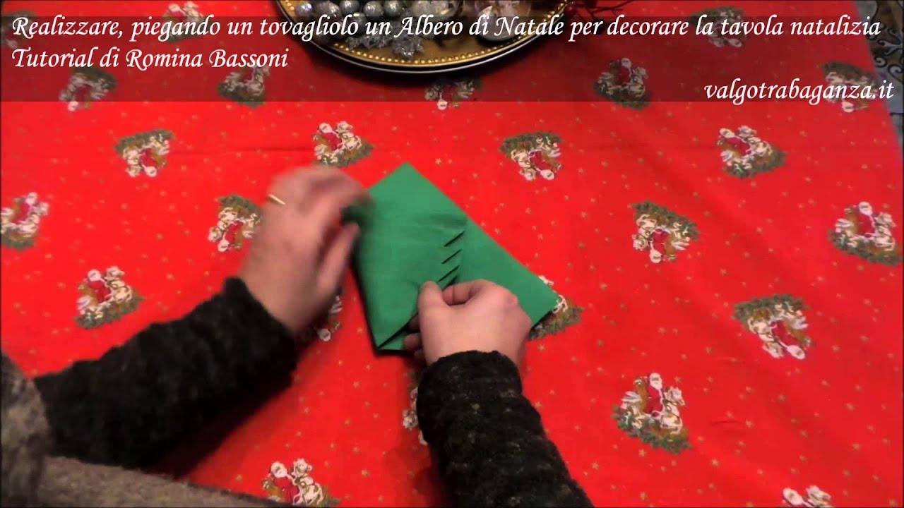 Tovagliolo di carta a forma di albero di natale per - Nastri decorativi per albero di natale ...