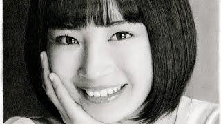 鉛筆画 広瀬すず 完成までの一部始終 動画 早送り / Pencil drawing/ Suzu Hirose/ Portrait/ How To Draw