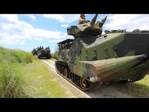 Philippine Marines and US Marine Conduct Amphibious Assault Vehicle Beach Raid