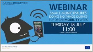 Webinar 'Small municipalities doing big things during EUROPEAN MOBILITY WEEK' thumbnail