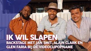 Backstage met Jan Smit, Alain Clark & Glen Faria bij de videoclipopname van Ik wil slapen