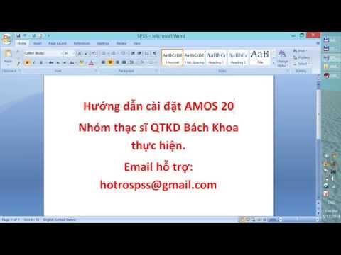 Hướng dẫn download và cài đặt phần mềm AMOS version 20 - Hỗ Trợ SPSS