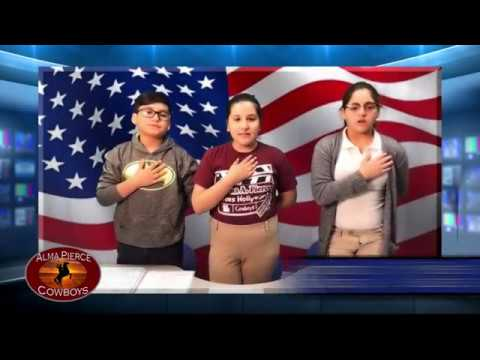 2017 Alma Pierce Elementary School Morning Announcements Contest Entry