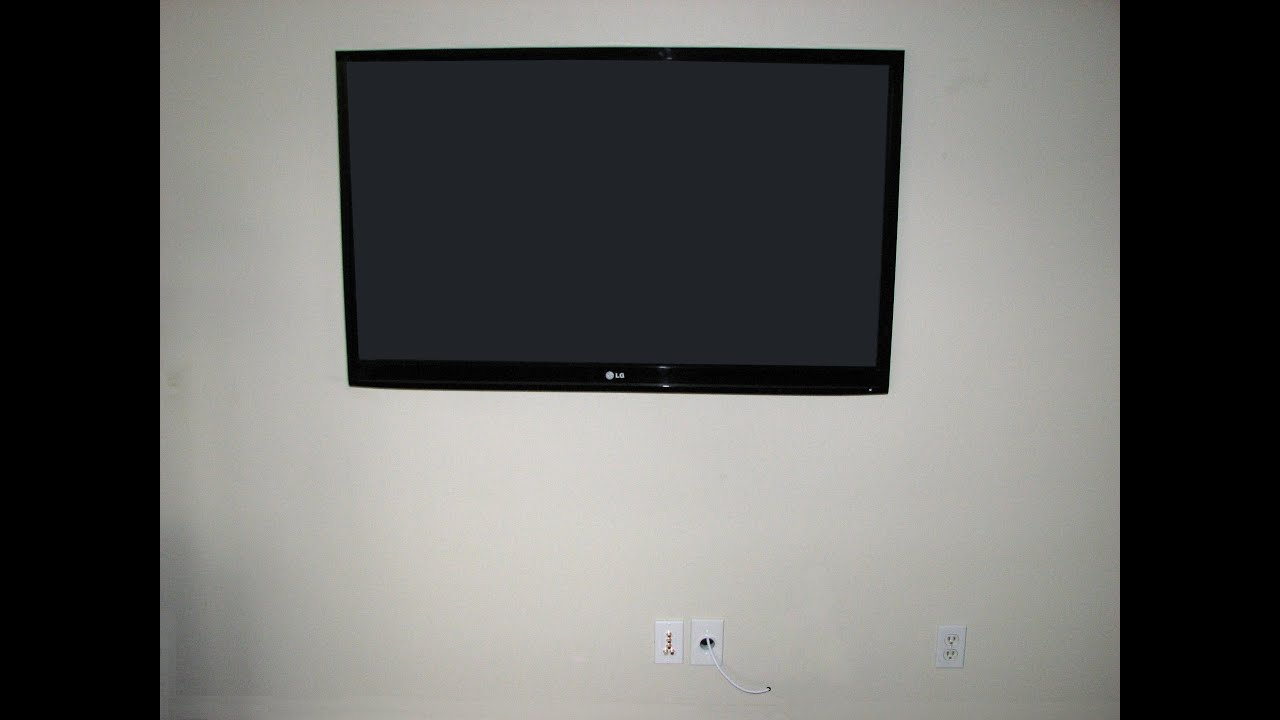 time lapse how to mount a flat screen tv on a wall install hang youtube. Black Bedroom Furniture Sets. Home Design Ideas