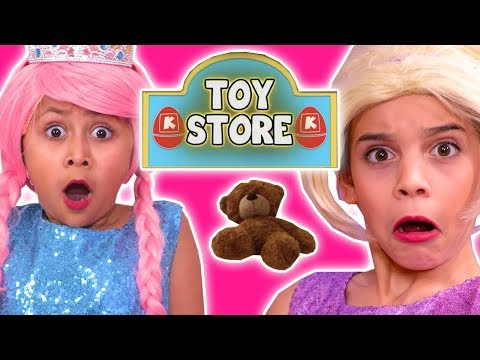 LOCKED IN THE TOY STORE OVERNIGHT - Teddy Bear Rescue Mission - Princesses In Real Life | Kiddyzuzaa