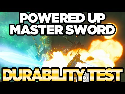 POWERED UP Master Sword Durability Test in Zelda Breath of the Wild | Austin John Plays