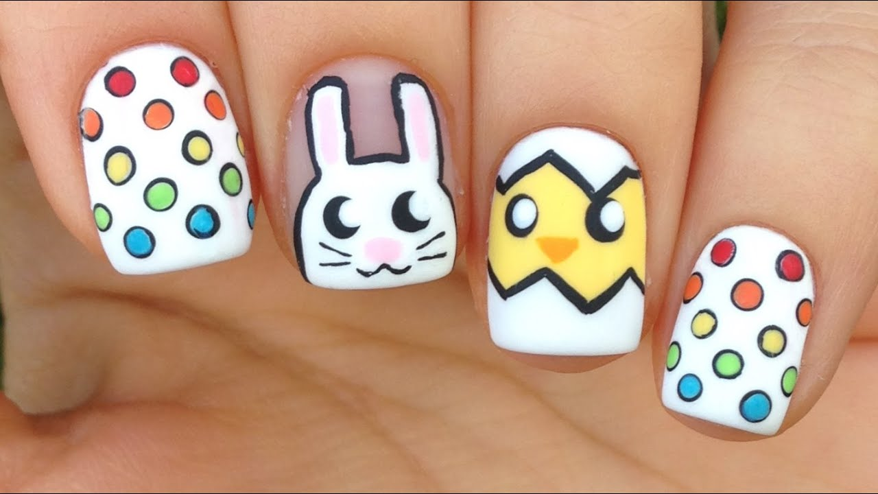 Cute & Easy Easter Nail Art Tutorial - Cute & Easy Easter Nail Art Tutorial - YouTube