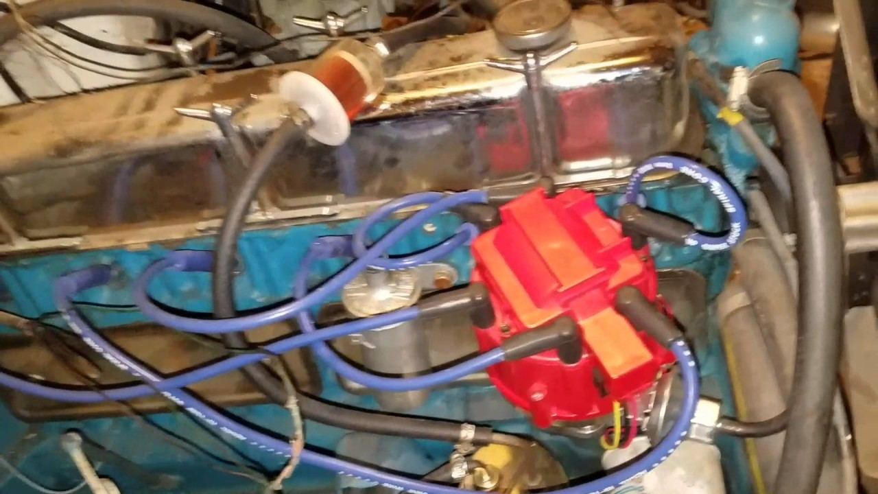 Chevy 250 6 cylinder HEI conversion 235 292  YouTube