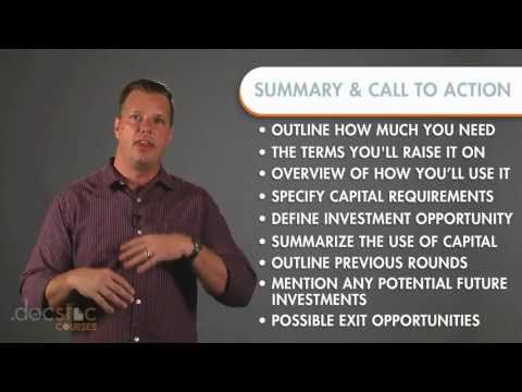 Summary & Call To Action Slide - Creating The Killer Business Plan