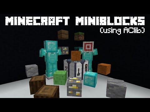 Minecraft Craftable Miniblocks Datapack Youtube