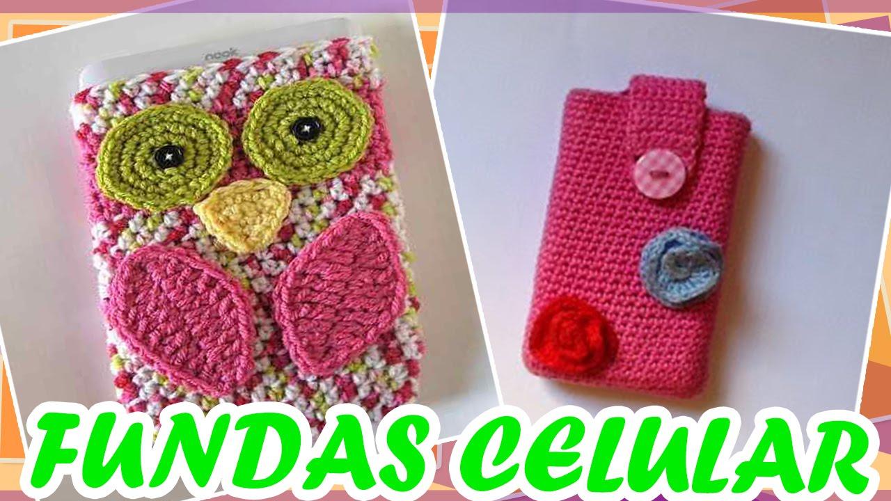 Fundas celular smartphone tejidas a crochet youtube - Fundas para bolsos ...