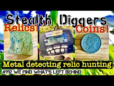 #192 We find whats left behind - Metal detecting old property woods cellar holes military find