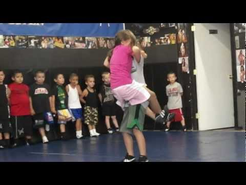 UGA KIDS GRAPPLING JENNIFER VS. JUNIOR 09/10/12