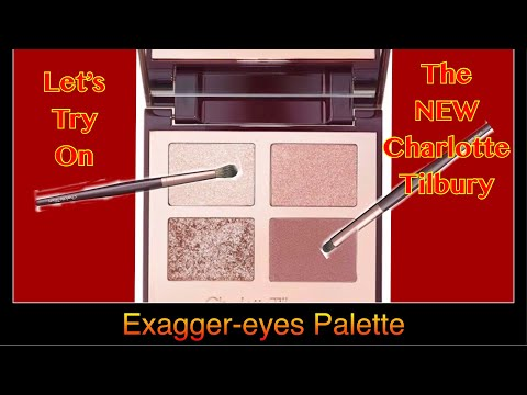 Let's try on the NEW Exagger-eyes palette by Charlotte Tilbury