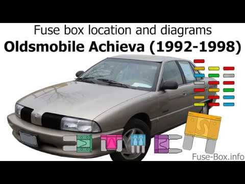 [DVZP_7254]   Fuse box location and diagrams: Oldsmobile Achieva (1992-1998) - YouTube | 1998 Oldsmobile Bravada Fuse Box |  | YouTube