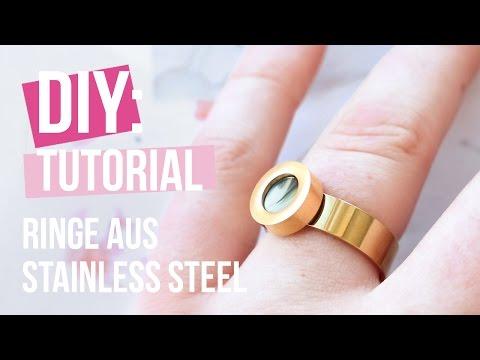 Schmuck machen: Ringe aus Stainless Steel ♡ DIY
