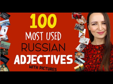 100 Most Used Russian Adjectives With Pictures | Russian Language Vocabulary