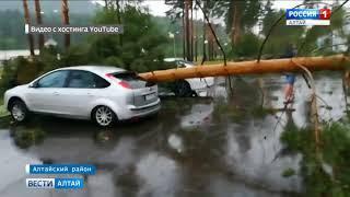 видео Последствия урагана на «Бирюзовая Катуни» будут устранять еще несколько дней