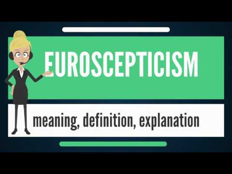 What is EUROSCEPTICISM? What does EUROSCEPTICISM mean? EUROSCEPTICISM meaning & explanation