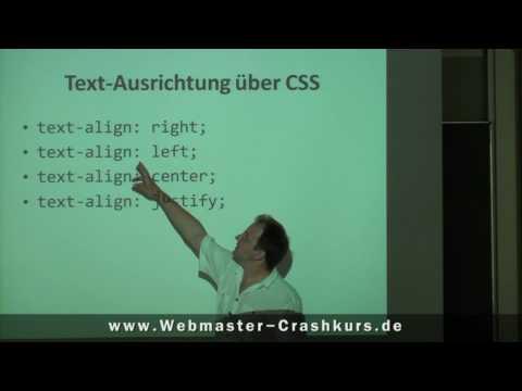 CSS - Textausrichtung Bestimmen (rechts, Links, Mittig Oder Blocksatz)