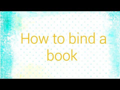 How to bind a book by #ananyanayak