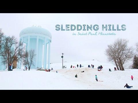 Sledding in Saint Paul, Minnesota