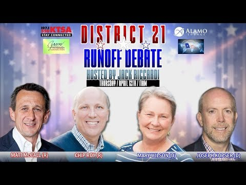 Texas District 21 Democratic Primary Runoff Debate