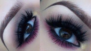 Dark smokey eye with a pink twist makeup tutorial Thumbnail